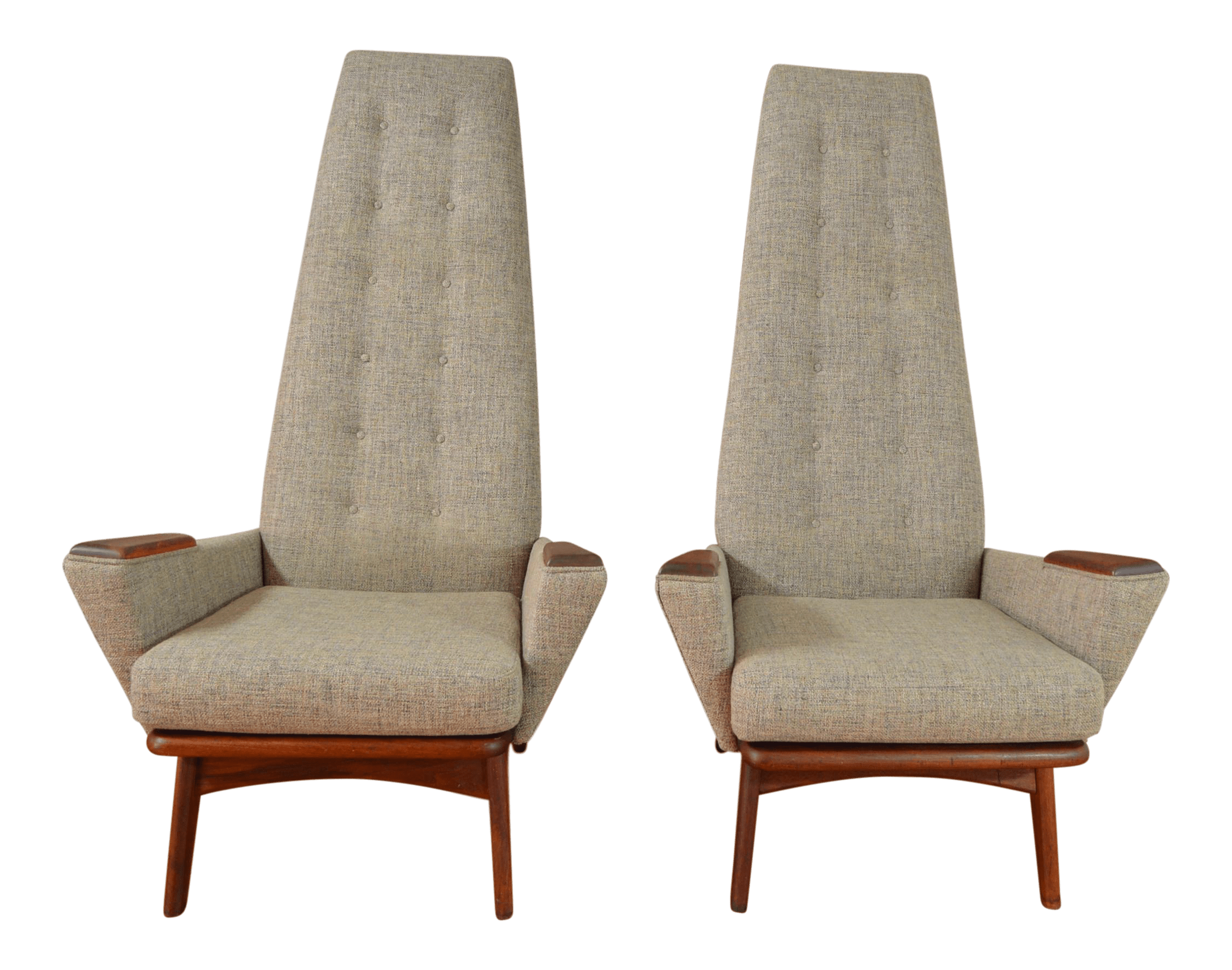 adrian pearsall chair designs wide office chairs for craft associates slim jim model 1865 c high back lounge