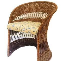 Fan Back Wicker Chair Affordable Upholstered Chairs Vintage Sculpted Rattan Barrel Boho Chairish Desk
