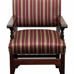 Striped Dining Chair Hanging In Room Diy Chairs Set Of 4 Chairish For Sale Image 11