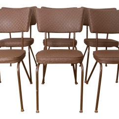 Retro Chrome Chairs Anywhere Chair Cover Vintage Mid Century Diner Style By Falcon Set Of 6 For Sale