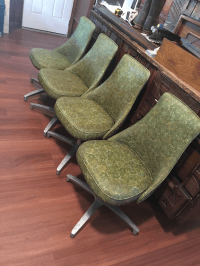 Chromcraft Mid-Century Green Dining Chairs - Set of 4 ...