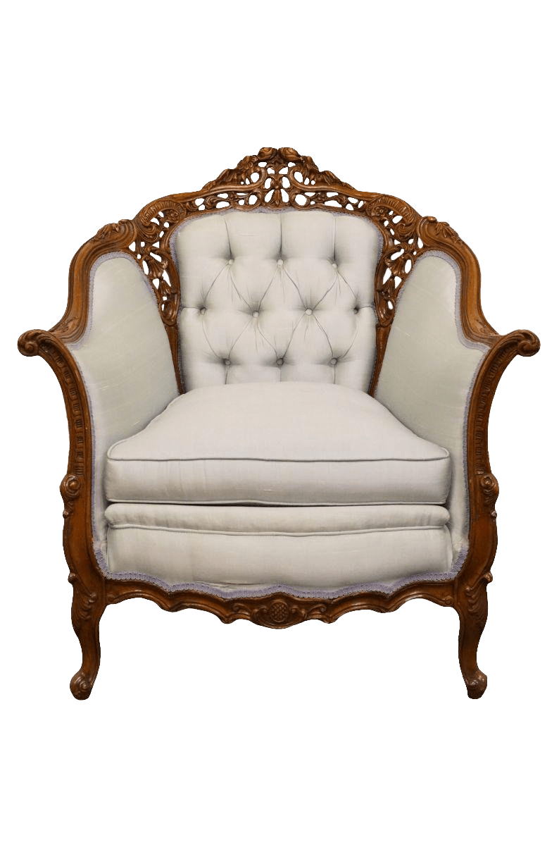 Vintage Accent Chair Late 20th Century Vintage Handcrafted Victorian Style Parlor Accent Chair