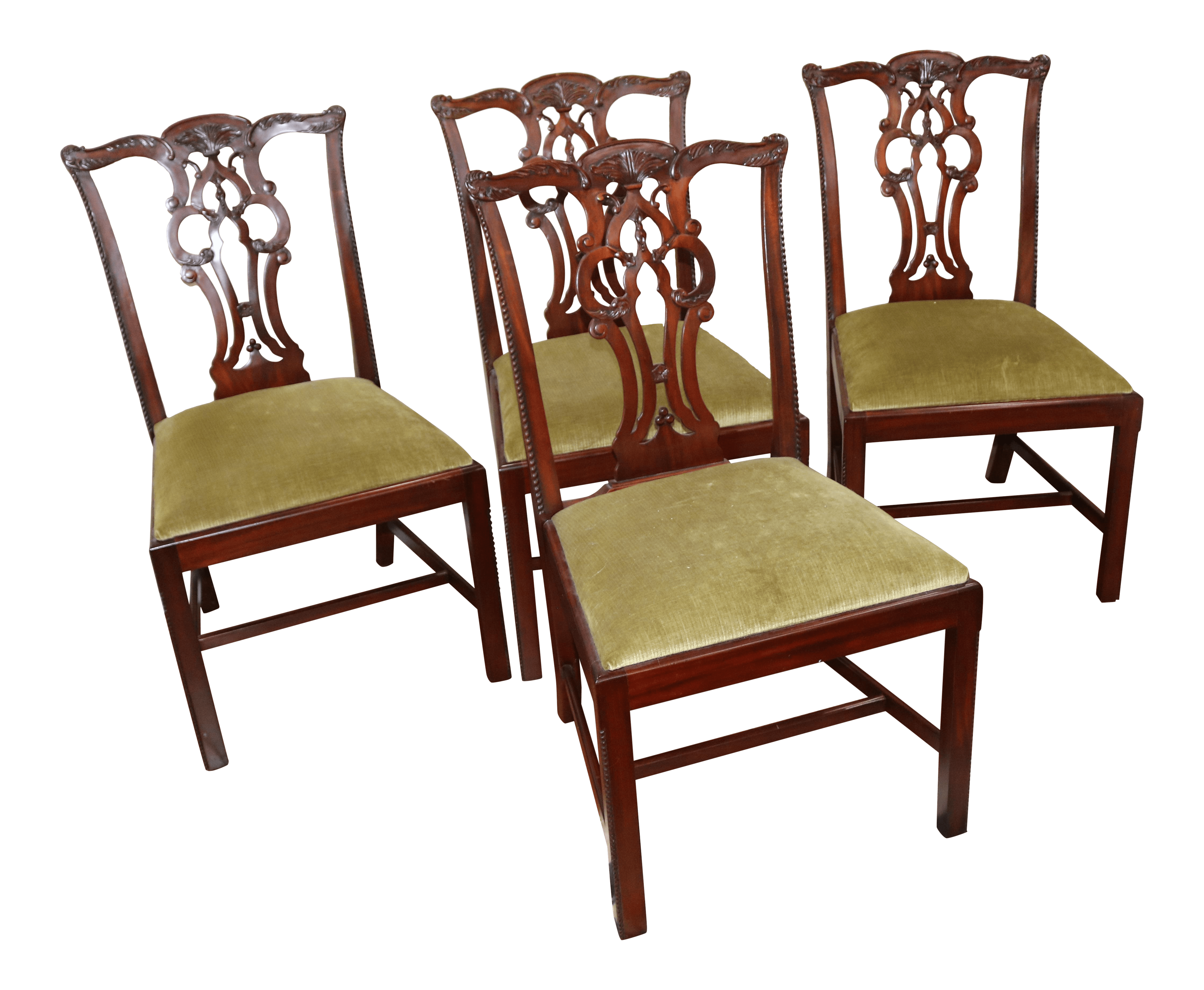 maitland smith dining chairs swing chair bed 21st century mahogany chippendale style set of 4