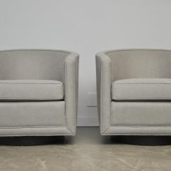Swivel Lounge Chairs Chair Cover Rentals San Diego Incredible Dunbar Decaso Classic Pair Of By Roger Sprunger For Fully Restored Newly