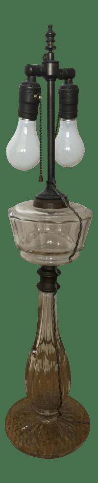 Vintage Leviton Glass Table Lamp | Chairish