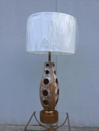 Large 1960's Modern Rembrandt Ceramic Lamp | Chairish