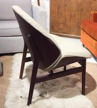 Mid Century Curved Back Lounge Chair | Chairish