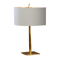 Contemporary Antiqued Brass Table Lamp | Chairish