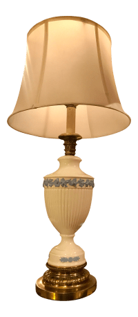 Blue & White Wedgwood Queensware Lamp