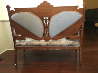 Eastlake Victorian Settee, Armchair & Armless Chairs - Set ...