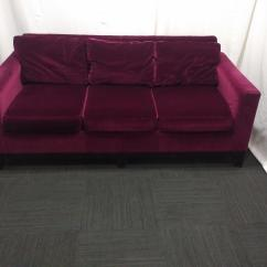 Eggplant Sofa Ethan Allen Table Microfiber Velvet Chairish Chic In A Luxurious Color From Southfield Furniture Very Nice Condition