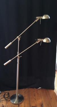 Double Swing Arm Tandem Adjustable Halogen Floor Lamp ...