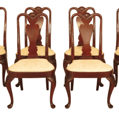 Hickory Chair Co Covers Nz Early 21st Century Queen Anne Mahogany Dining Chairs Set Of 8 Chairish