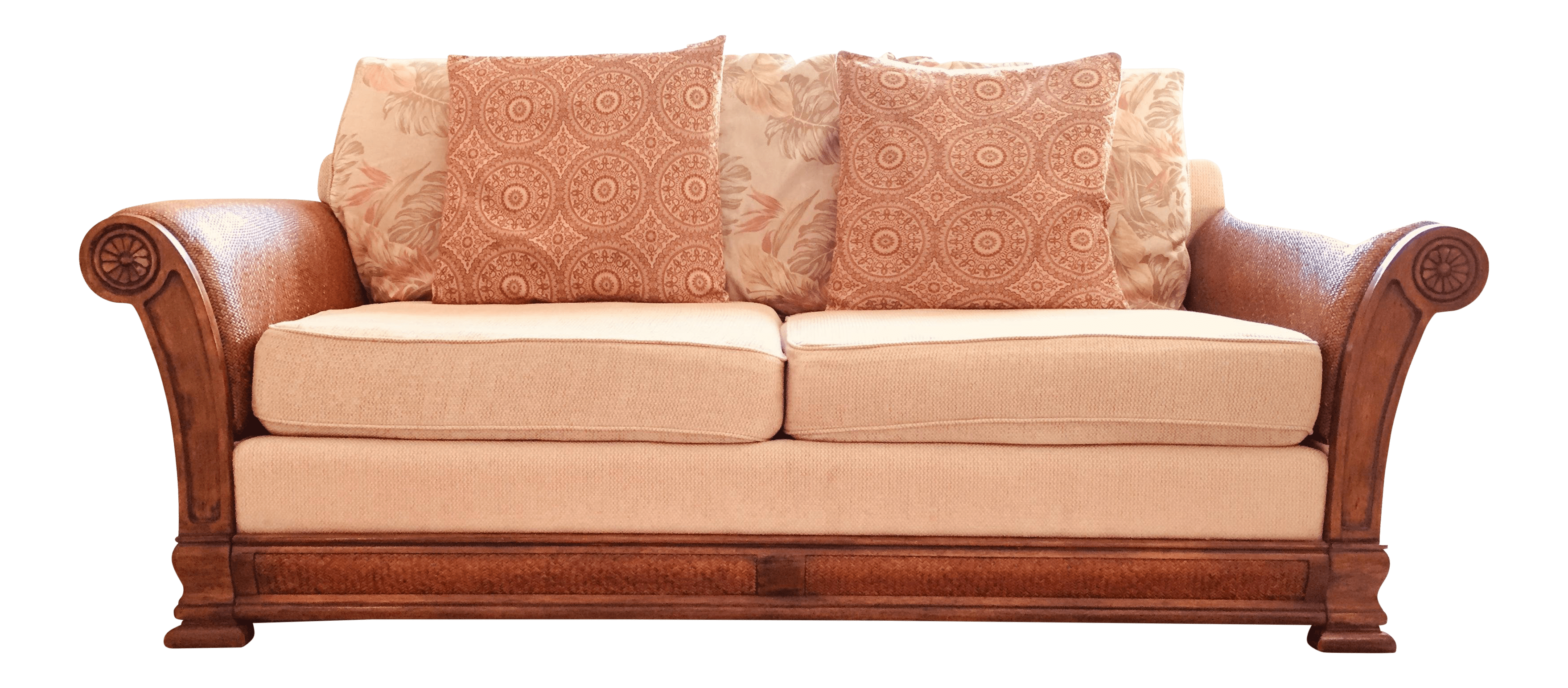 regency sofa john lewis jacksonville futon sleeper bed vintage used standard sofas for sale chairish tommy bahama style solid wood upholstered honey beige