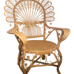 Rattan Peacock Chair Computer Deals Vintage Wicker And Chairish For Sale
