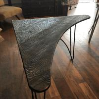 Mid-Century Atomic Boomerang Desk Corner Table | Chairish