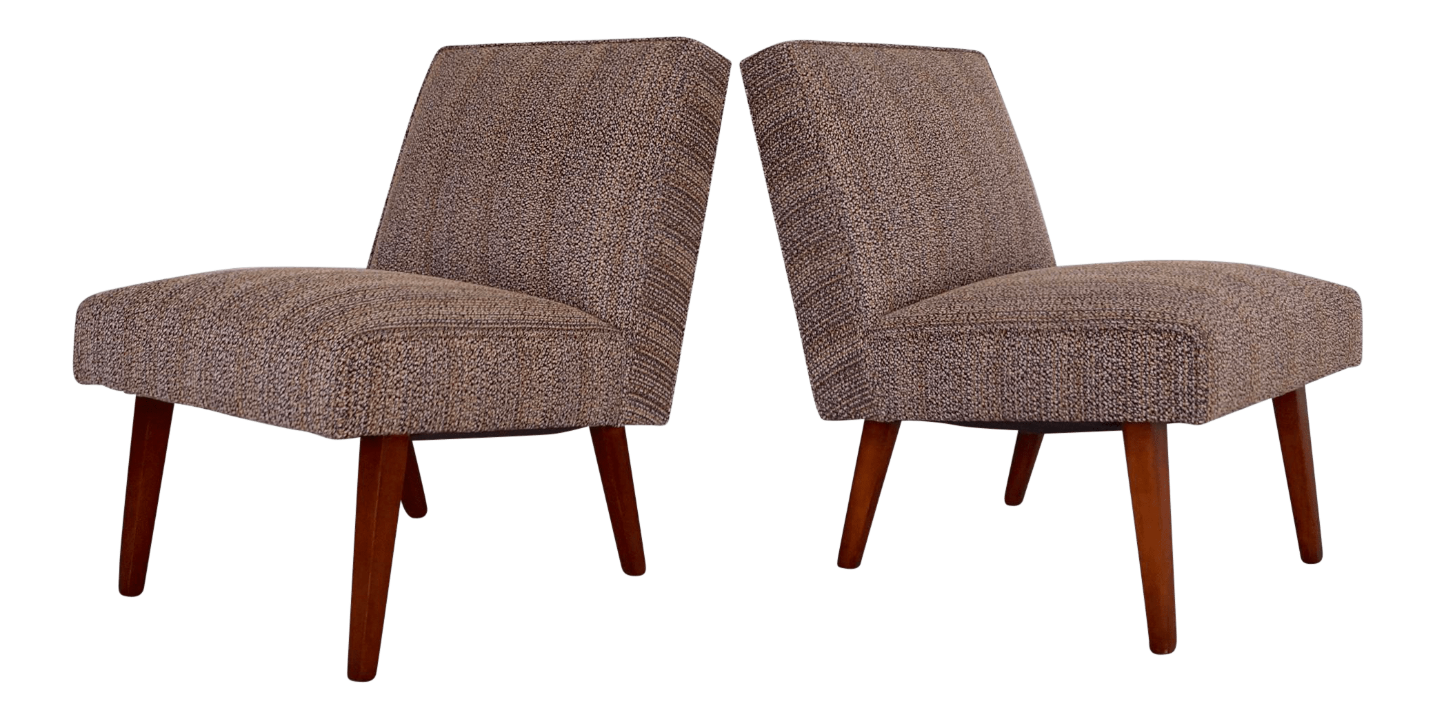 modern slipper chair personalized chairs for baby mid century a pair chairish sale