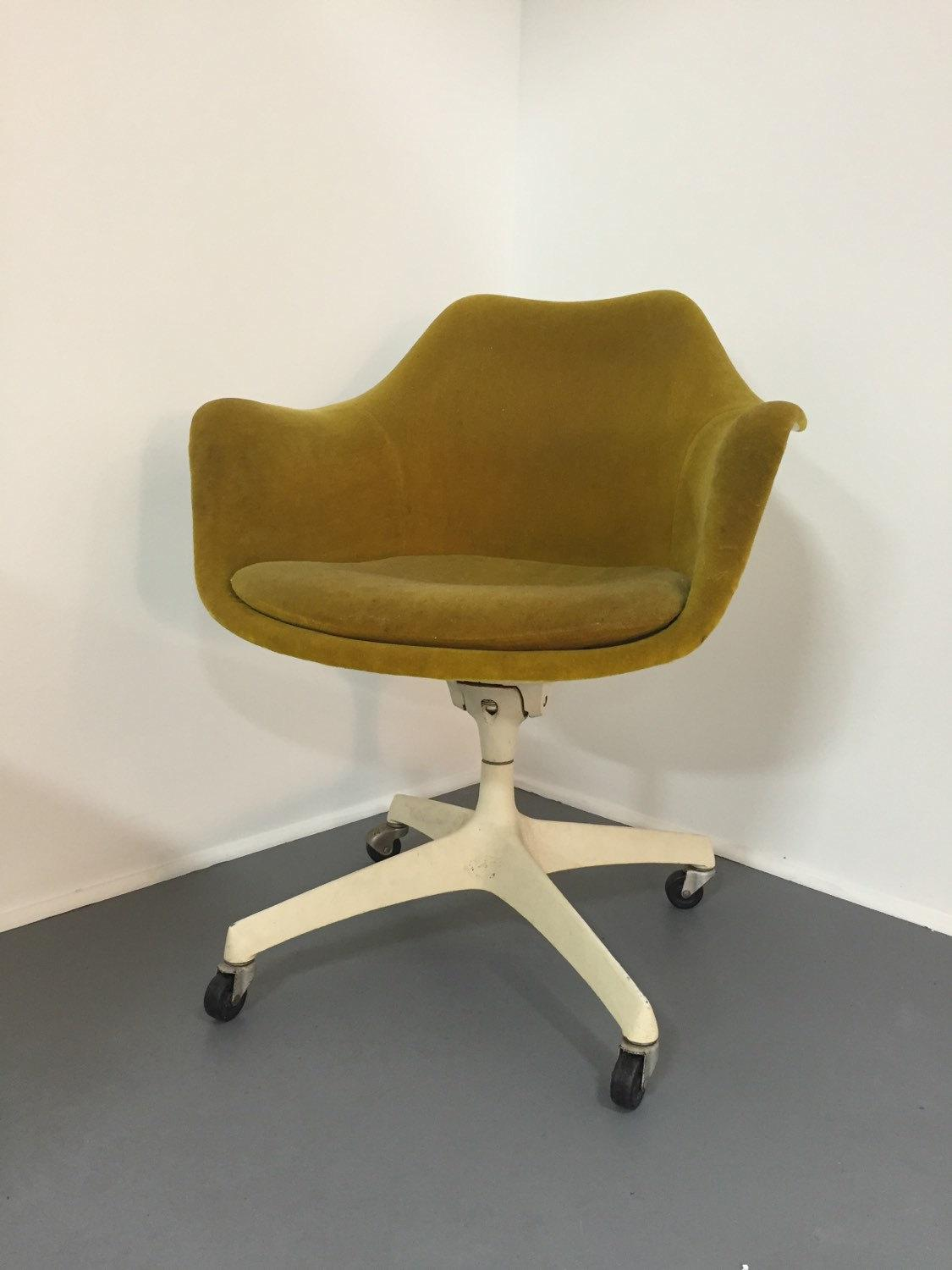 swivel arm chairs fabric chair covers for dining room eero saarinen knoll rare set of 4 chairish four upholstered circa 1960s similar to