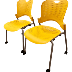 Yellow Office Chair Fishing Walmart Vintage Used Chairs Chairish Herman Miller Modern Caper A Pair