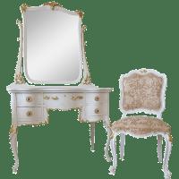 Antique White Vanity Mirror | Antique Furniture