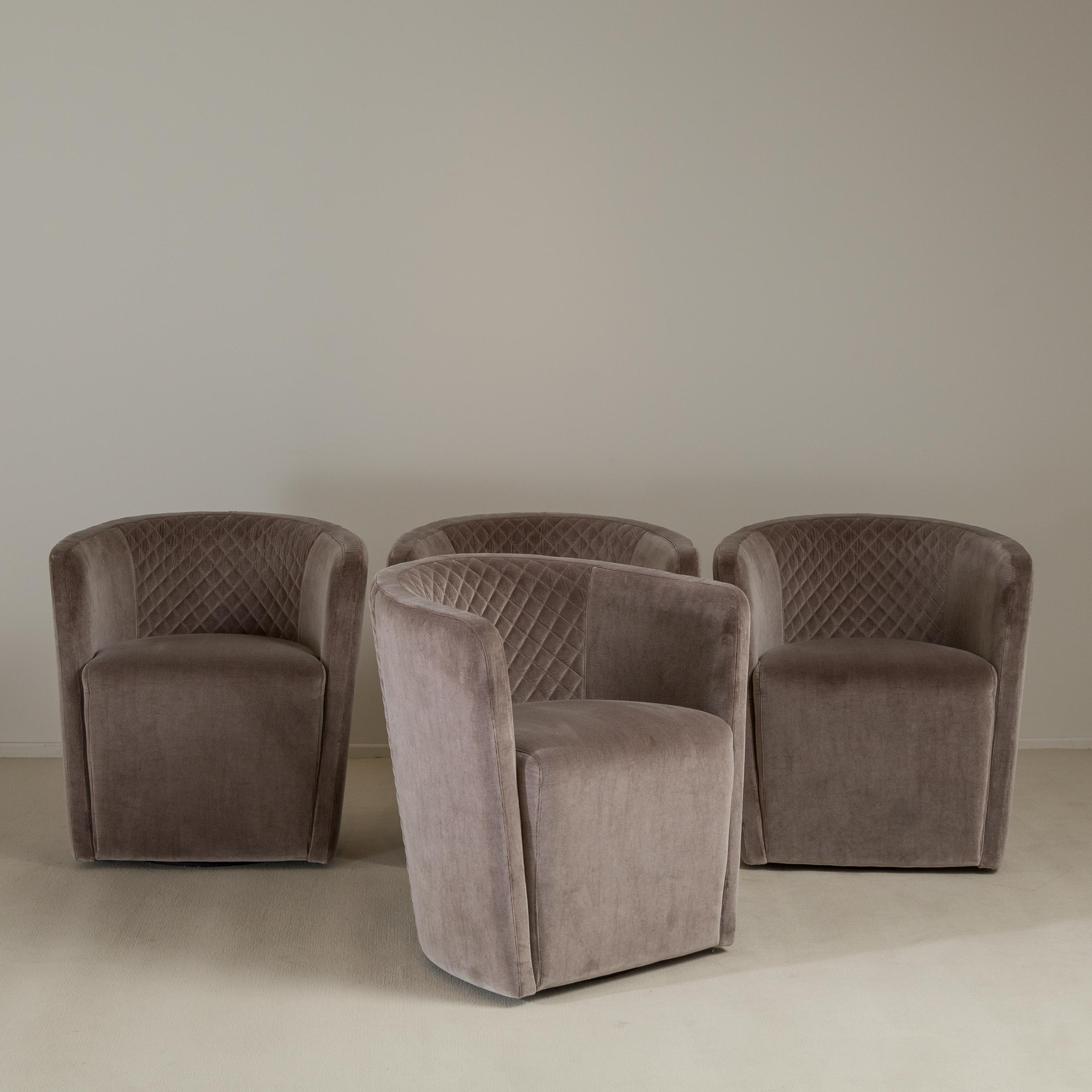 quilted swivel chair game chairs target lovely a set of four contemporary italian tub six upholstered available in pairs nb