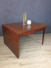 Mid Century Walnut Drop Leaf Dining Table | Chairish