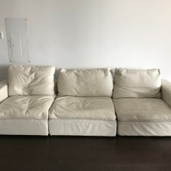 Leather Sectional Sofa Restoration Hardware B Italia Cloud Modular Chairish For Sale Image 4 Of