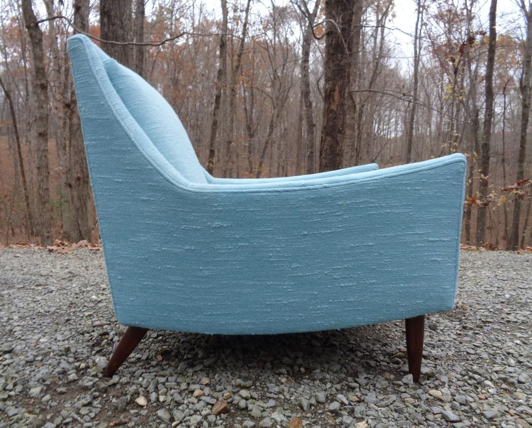 turquoise lounge chair bulk buy covers uk mid century danish modern style chairish textile for sale image 7 of 13