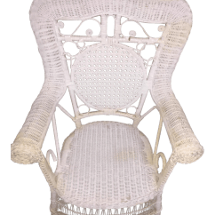Childs Rattan Chair Double Camping Chairs Folding Vintage White Child S Wicker Chairish For Sale