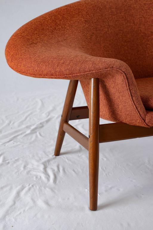 fried egg chair library ladder plans distinguished hans olsen lounge decaso orange for sale image