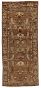 1930s Antique Persian Rug Zanjan Style With Rich Tribal And Geometric Designs 3 9 8 11