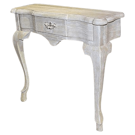 painted queen anne sofa table 45 degree wedge sectional faux white wall console chairish