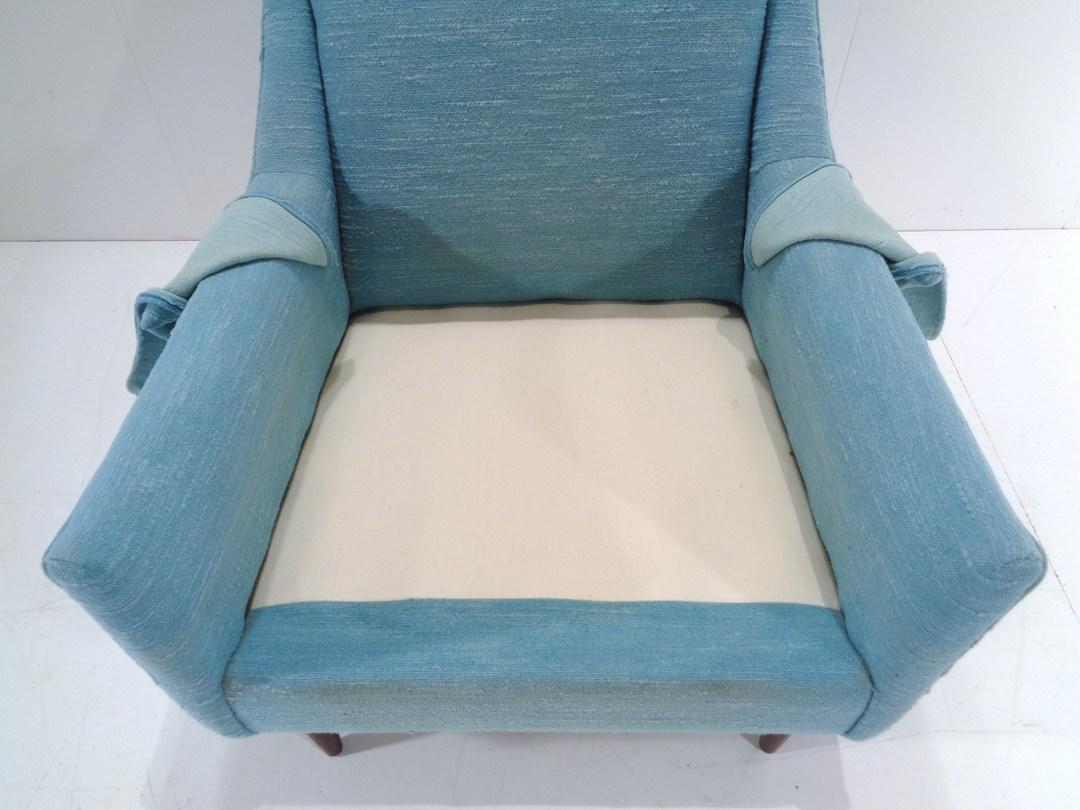 turquoise lounge chair resin adirondack chairs australia mid century danish modern style chairish for sale image 12 of 13