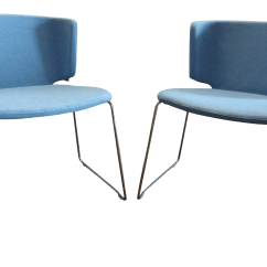 Coalesse Wrapp Chair Ikea Chairs For Kids By Steelcase Modern Stackable Blue Guest A Pair Sale