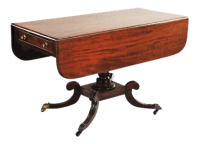 Antique Regency Style Drop Leaf Occasional Table | Chairish