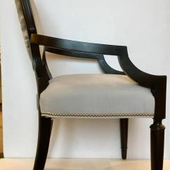 Gray Side Chair Swivel On Finance Transitional And Black Caracole Custom Chit Chat 2010s For Sale Image