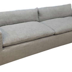 Petite Belgian Track Arm Slipcovered Sofa Cape Town Manufacturers Reupholstered Restoration Hardware Cloud For Sale