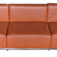 Le Corbusier Sofa Replica Lucid 4 Inch Folding Mattress And With Removable Indoor Outdoor Fabric Cover King Size Lc3 In Brown Leather Chairish