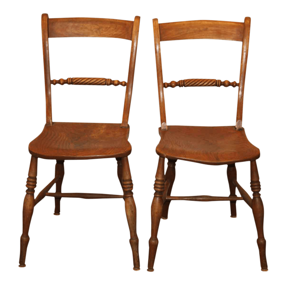 fixing wooden chairs jumbo rocking chair cushions antique spindle rope design dining a pair chairish for sale