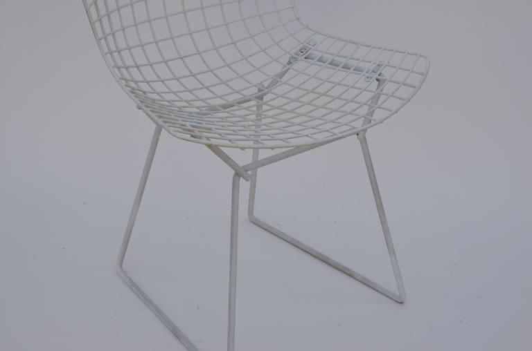 bertoia wire chair original oversized wingback exceptional set of four chairs by harry for knoll sale in los angeles
