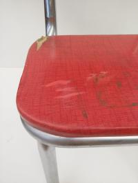 Mid Century Modern Red Vinyl Accent Chair | Chairish