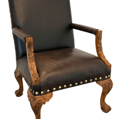Wooden Library Chair Foldable Chairs With Cushions Sam Moore Leather Chairish