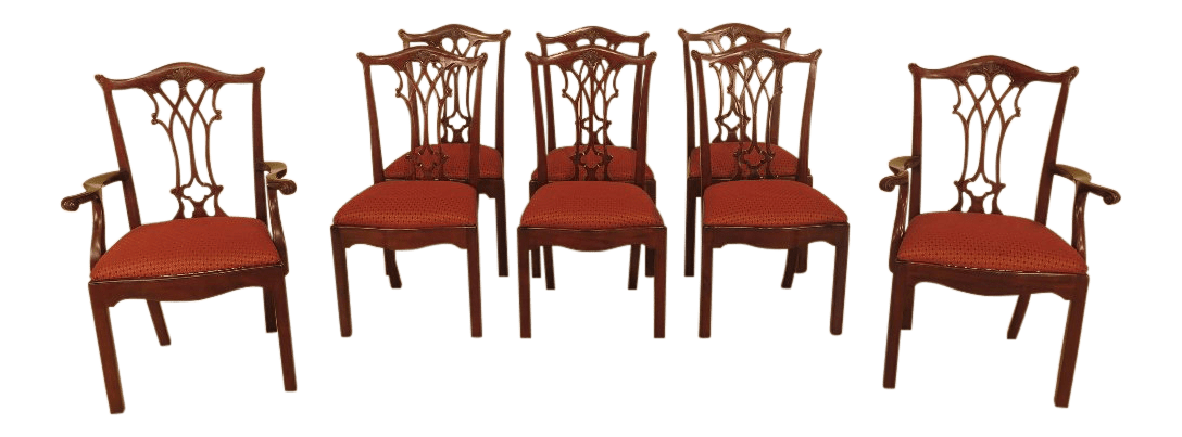 maitland smith dining chairs chrisanna wingback club chair chippendale style mahogany set of 8