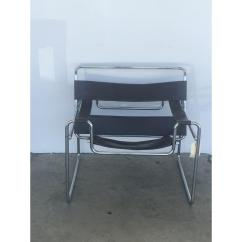 Leather Chrome Chair Office Chairs With Arms Vintage Wassily Brown Chairish Chocolate Mid Century Modern Accent