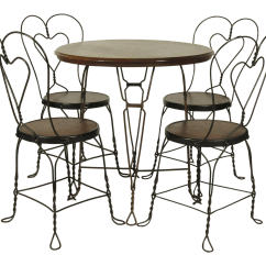 Ice Cream Table And Chairs Folding Chair Hire London Vintage 4 Chairish For Sale