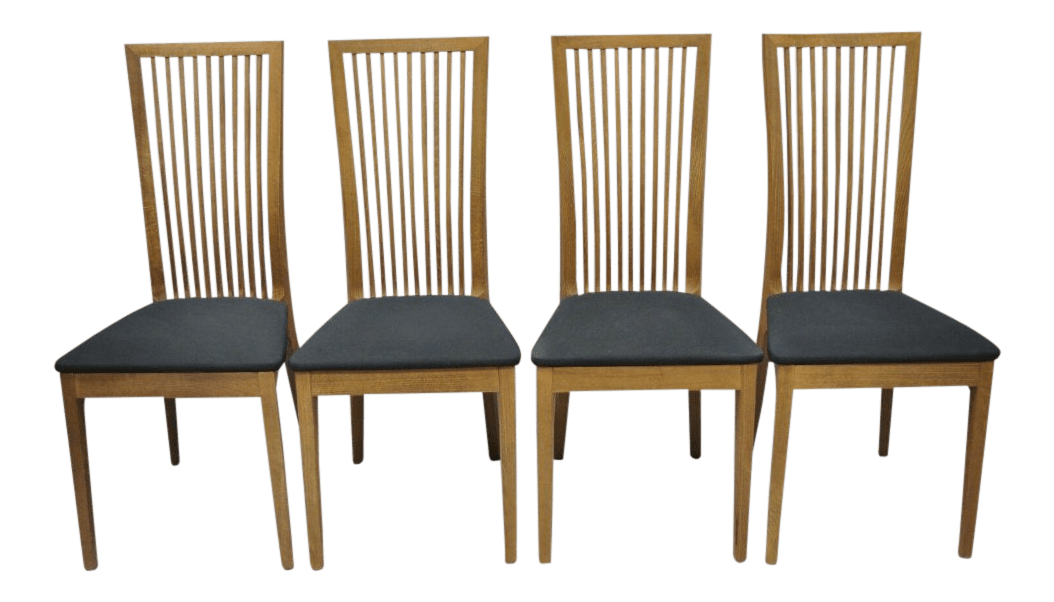 Calligaris Dining Chairs Early 21st Century Calligaris Connubia Slat Back Italian Wooden Dining Side Chair Set Of 4