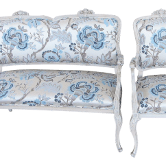 Floral Upholstered Chair Plastic Office Mat French Settee Arm Accent Chairish