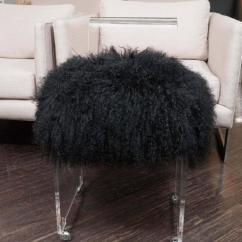 Acrylic Side Chair With Cushion Victorian Rosewood Chairs Exceptional Custom Black Mongolian Decaso For Sale In New York Image 6 Of