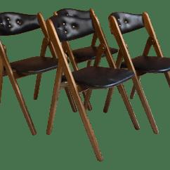 Coronet Folding Chairs Pretty Office Uk 1960 S Norquist Wonderfold Set Of 4 Chairish For Sale