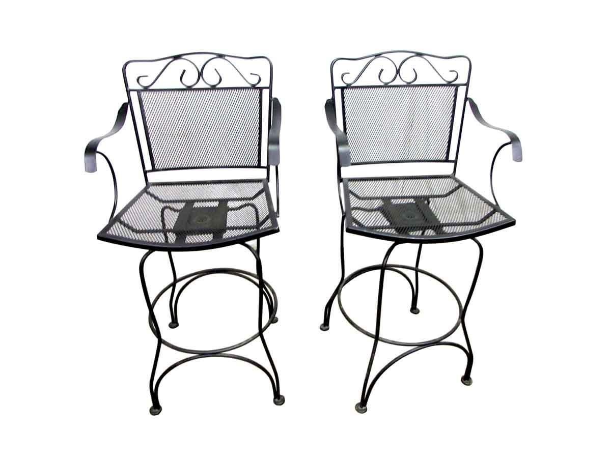 tall swivel chair wicker armchair uk wrought iron chairs a pair chairish for sale image 11 of